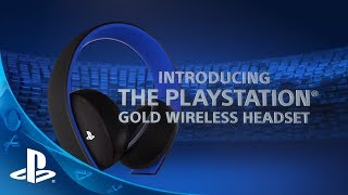 gold wireless stereo headset ps4 sony microplay. Black Bedroom Furniture Sets. Home Design Ideas