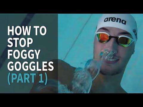 Cómo evitar que las gafas de natación se empañen