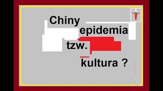 Chiny ? …. epidemia i tzw. kultura ?