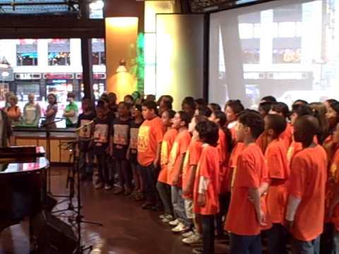PS22 Chorus - Good Morning America - Don't Stop Believing Warm Up