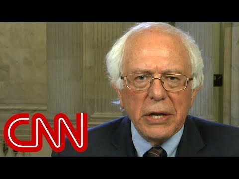 Bernie Sanders reacts to Trump's executive order