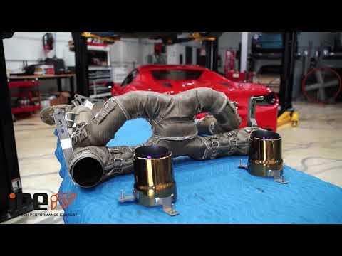 ALL NEW Ferrari F8 Tributo w/ iPE Titanium Exhaust X Chrome Gold Tips