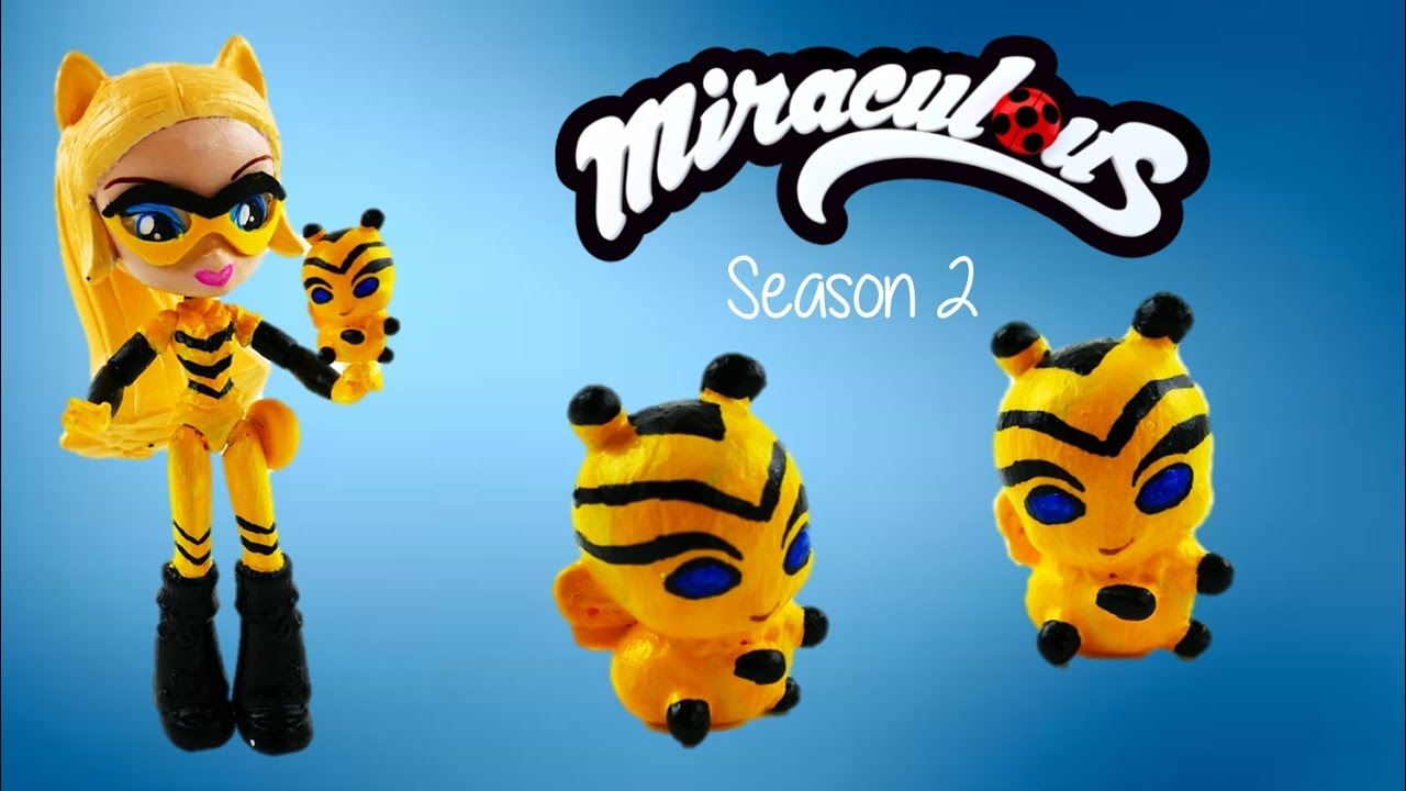 Custom Bee Kwami for Chloe Queen Bee in Miraculous Ladybug Season 2 Toys