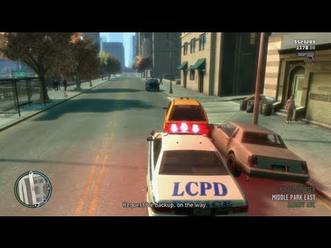 How To Pull Over Cars In GTA IV (XBOX, PS3)