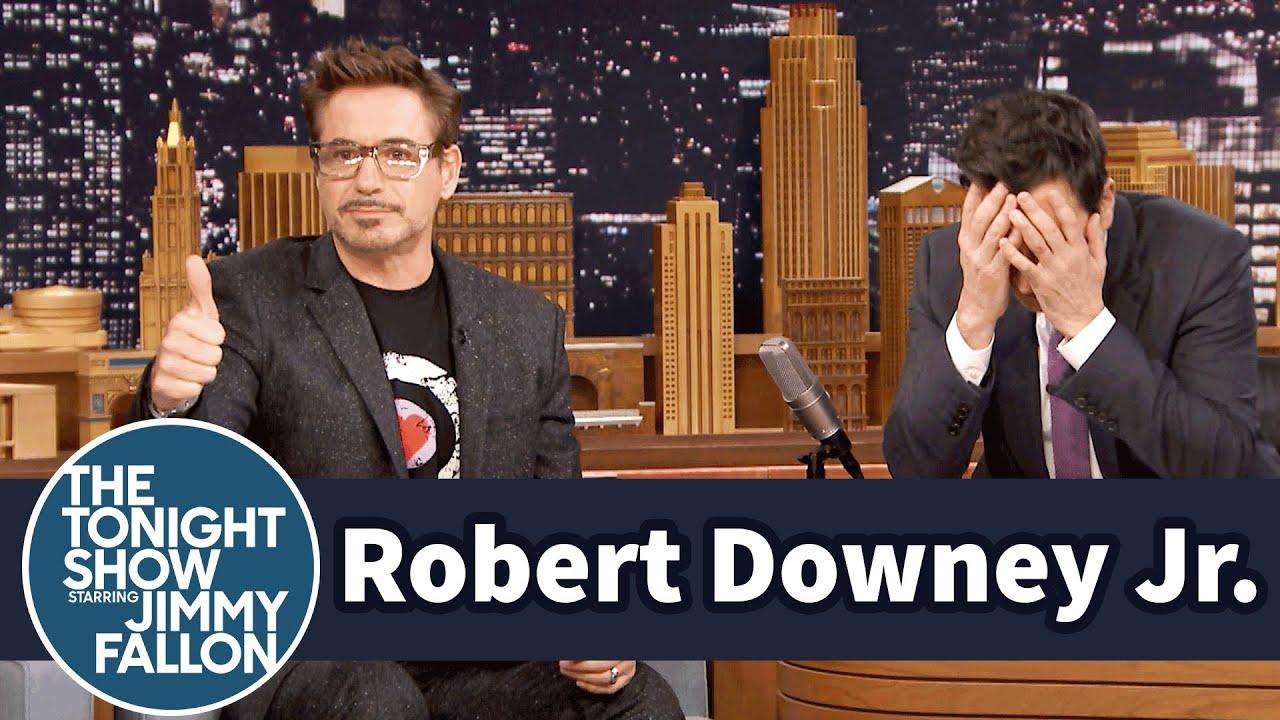 Robert Downey Jr. Coaches Jimmy Through Dramatic Acting Scenes thumbnail