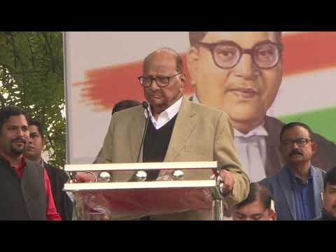 Sharad Pawar Addresses at the Movement Save The Indian Democracy