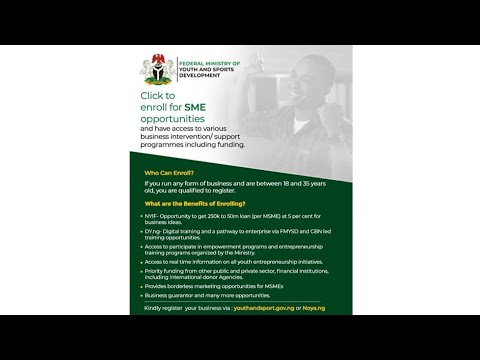 , title : 'FMYSD Commence Registration Of Business Owners (Register Now)'