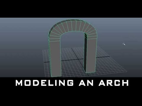 Maya Tutorial for Beginners – Modeling an Arch