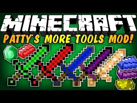 Minecraft: Pattys More Tools Mod 2!!! (Mod Showcase)