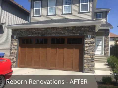 Exterior Stone & Doors Calgary - Reborn Renovations
