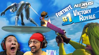 FORTNITE THICCtory Royale! FGTeeV Loses to Mr. Beast for $1 Million Dollars (Marvel Silver Surfer)