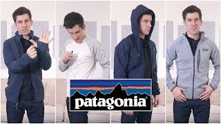 Trying On Patagonia Jackets and Long Sleeve Shirts (XS, XXS, Slim Fit)