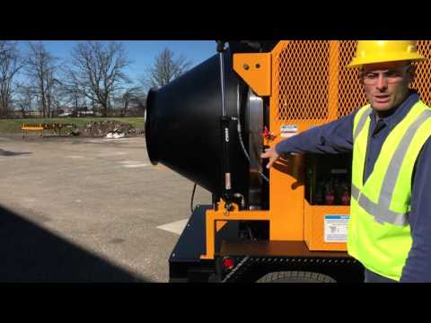 KM International KM T-2 Asphalt Recycler Operational Video