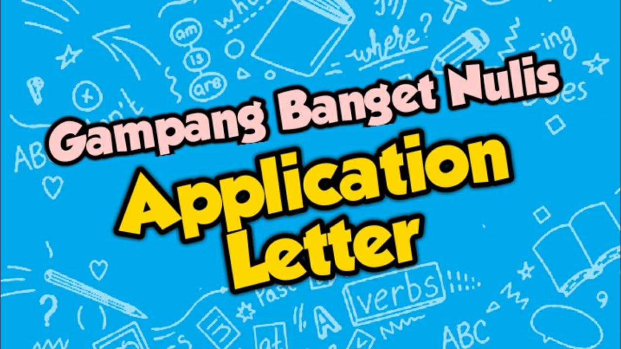 WOW, GAMPANG BANGET NULIS APPLICATION LETTER  - B. INGGRIS SMK KELAS 12