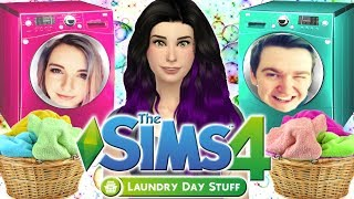 The Sims 4: Raising YouTubers as LAUNDRY DAY STUFF | CAS & House Build