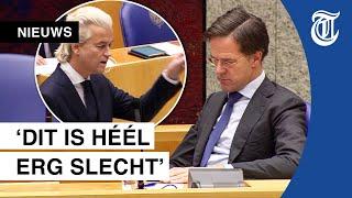 Wilders fileert Rutte tijdens debat toeslagenaffaire