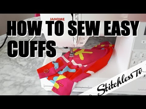 How to Sew an Easy Cuff sewing tutorial