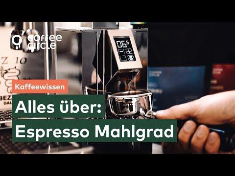 Wie finde ich den optimalen Mahlgrad für Espresso?
