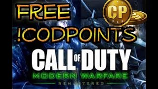 How To Get Free Cod Points Modern Warfare Remastered