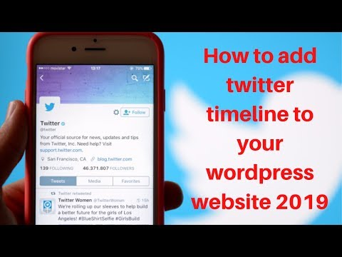 How to add twitter timeline to your wordpress website 2019