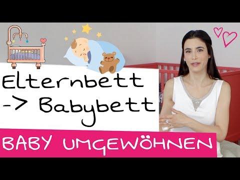 Baby vom Elternbett ans eigene Babybett gewöhnen + Abendroutine