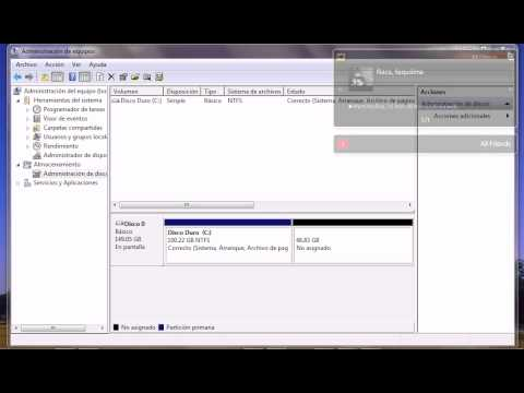 Particionar unidad Disco Duro en Windows 7 facil y sin necesidad de ningun programa