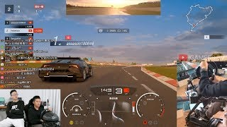 Racing driver plays GT Sport / 香港車手俞志昂跑 Nurburgring 賽道 (Wheelcam+Footcam)