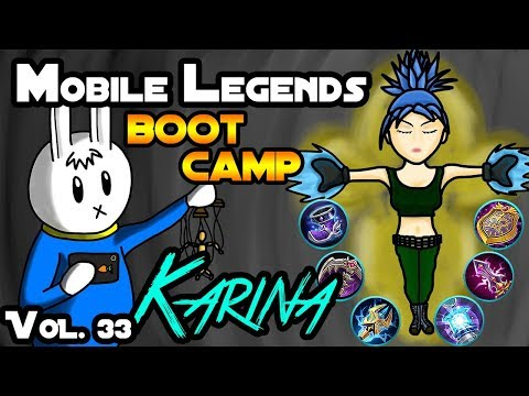 MGL MOBILE LEGENDS BOOT CAMP VOLUME 33 : KARINA - TIPS, ITEMS, SPELL, EMBLEMS, TRICKS, AND GUIDE