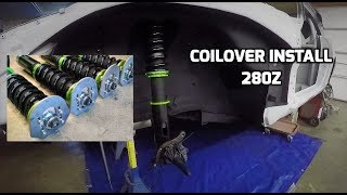 Cutting the 280z Struts & Installing New Racing Coilovers!