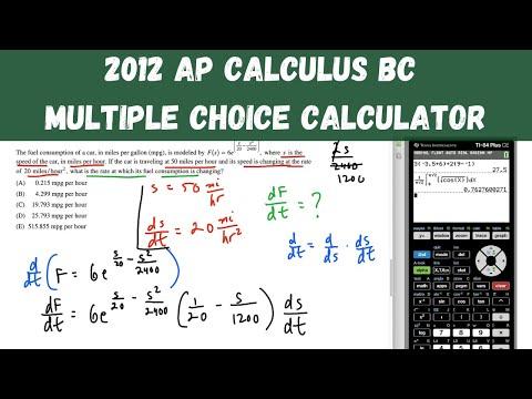 AP Calculus BC Practice Exam 2012 - Calculator Multiple Choice ...