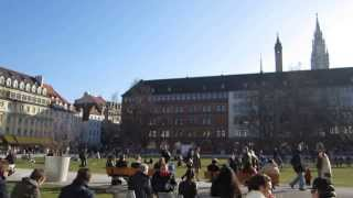 Gorgeous Spring Day in Downtown Munich, Germany in March 2014