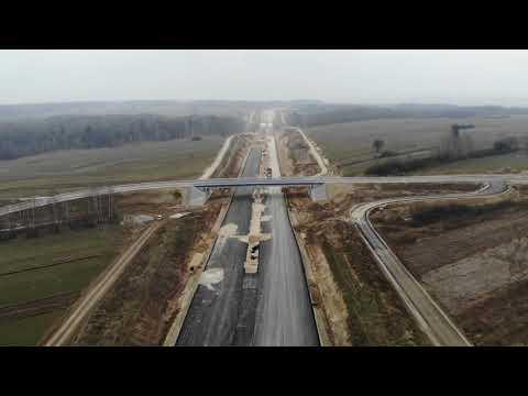 Planowana droga S19, odc. 3 - obwodnica m. Kraśnik, widok lotniczy marzec 2021 r