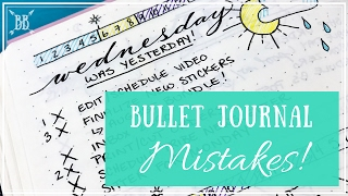 Bullet Journal Mistakes