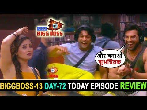 Biggboss 13, Day 72, Today Episode Review, Siddharth shukla paras masterplan for save mahira sharma