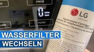 Wasserfilter von unserem LG Kühlschrank erneuern