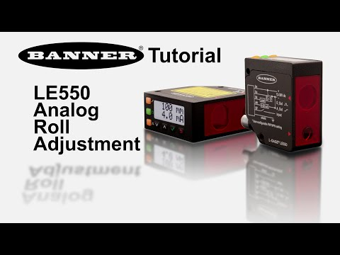 LE550 Analog Roll Adjustment