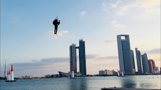 World's Only JetPack Flies At The Red Bull Air Race In Abu Dhabi.