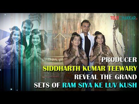 BTS from the making of the sets of Ram Siya ke Luv