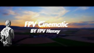 FPV Cinematic bei Sonnenuntergang/Germany