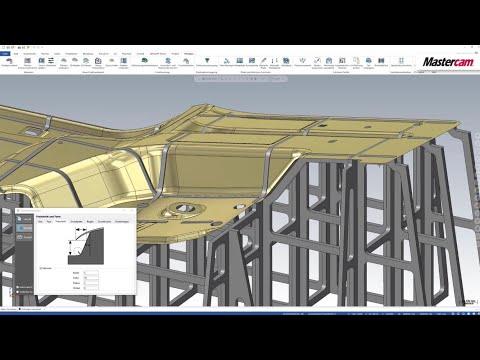 Mastercam 2021 | Spanten konstruieren mit Moldplus
