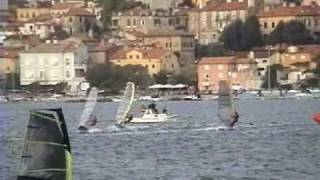 preview picture of video 'Windsurfing slalom race finals 2006, DSNM Volosko, Opatija, Croatia'