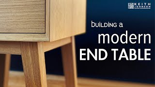 Building A Modern End Table // Side Table // Plans Available