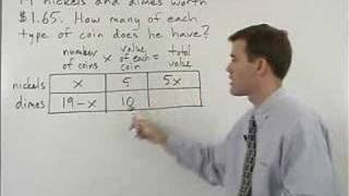 Coin Word Problems - MathHelp.com - Algebra Help