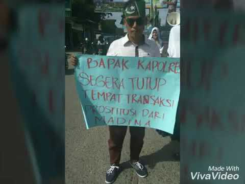 DEMO ORMAWA HMI terkait prostitusi di MADINA