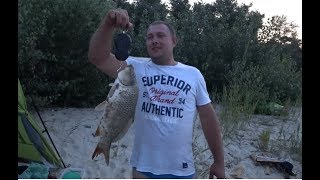 18+ Рыбалка с ночевкой!!!!! Сазан!!! Реванш!!!!))))))