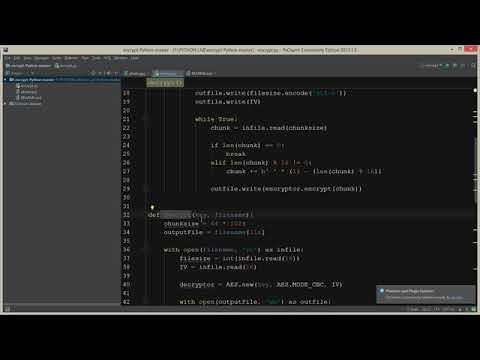 Python AES Encryption/Decryption using PyCrypto Tutorial - смотреть