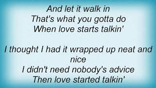 Wynonna Judd - When Love Starts Talkin' Lyrics