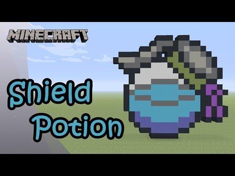 TUTO Minecraft] Pixel Art : Shield potion (Fortnite