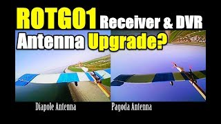 Eachine ROTG01 OTG Receiver How To Improve FPV Video Quality Test Dipole vs Pagoda Antenna