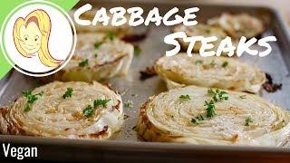 Roasted Cabbage Steaks (Vegan & GF)
